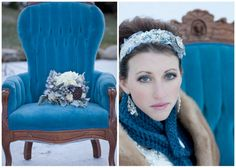 The Attic Photoshoot.  Check those blue eyes with the scarf and chair, how lovely is that?