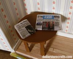 Make a Miniature Dollhouse Newspaper tutorial