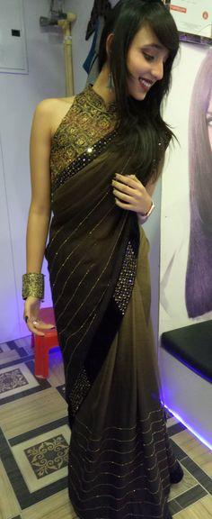 Sari, Indian, Fashion, Saree, Moda, La Mode, Fasion, Indian People, Fashion Models