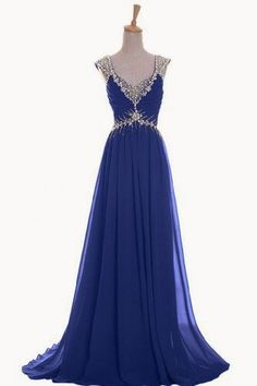 Naughty Gal Shoes : Emma Y Luxury V-neck Prom Gowns Party Dresses Chiffon Long 2014