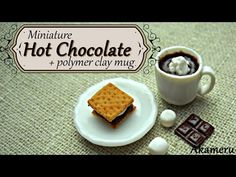 Miniature Hot Chocolate + Mug - Polymer Clay Tutorial - YouTube