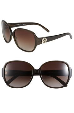 5a50faeb4bf5 Tory Burch 59mm  Disco Logo  Rounded Sunglasses