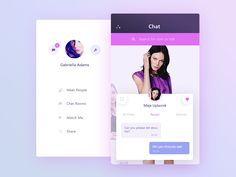 Chat app demo screens 2