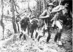 Members of the 39th Battalion retreating after the battle of Isurava