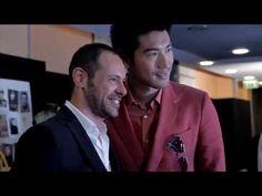Salvatore Ferragamo Men's SS 14 Backstage - YouTube #MarcoMengoni #Prontoacorrere