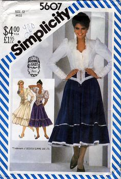 Simplicity 5607 by Gunne Sax Vintage 80s Misses' by retrowithlana, $8.00