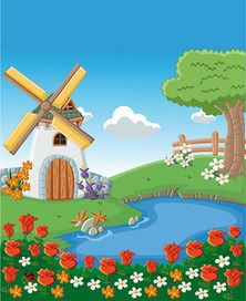 View album on Yandex. Art Drawings For Kids, Drawing For Kids, Art For Kids, Moulin France, Cartoon House, Animal Art Projects, Art Corner, School Decorations, Naive Art