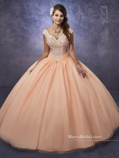 In love with off-the-shoulder quinceanera dresses? Browse through the most sought-after quinceanera dress collections and find the one that speaks for you! Sweet 16 Dresses, 15 Dresses, Fashion Dresses, Formal Dresses, Formal Prom, Mary's Bridal, Bridal Wedding Dresses, Quince Dresses, Beaded Prom Dress