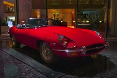 Even 50 years later, the XKE is still regarded by many car enthusiasts as the most beautiful production car ever made. The red XKE is on display at the entrance of Fairmont Pacific Rim whenever the owner is not enjoying it on the road. A similar 1970 Jaguar E-type Roadstar is part of the permanent collection at the Museum of Modern Art in New York.