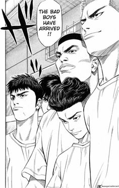 Read Slam Dunk Chapter 221 : Hurry And See Sannoh - There are many different popular mangas out there in the real world, but this particular form of anime can be hard to find, especially if looking for something that was originally in print ye Slam Dunk Manga, Manga Anime, Comic Manga, Anime Art, Comics Illustration, Illustrations, Inoue Takehiko, Basketball Art, Manga Covers