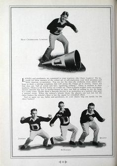 1930 U of D Football Cheerleaders, University of Detroit Mercy Football collection #cheerleaders