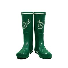 #USF green rain boots. I can't express to you how much I WOULD LOVE TO HAVE THESE