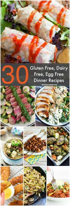 Gluten Free Dairy Free Egg Free Recipes - Real Advice Gal Is meal planning difficult because your family has different food allergies or food sensitivities? Save and try these Gluten Free Dairy Free Egg Free Recipes Dairy Free Diet Plan, Free Diet Plans, Lactose Free Diet, Lactose Free Recipes, Egg Free Recipes, Allergy Free Recipes, Healthy Recipes, Paleo Plan, No Dairy Diet