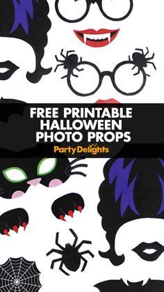 Planning a Halloween party? Download our free printable Halloween photo props and create your own Halloween photo booth! Perfect for kids' Halloween parties and adult celebrations alike!