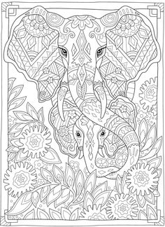 Welcome to Dover Publications Witch Coloring Pages, Free Adult Coloring Pages, Cute Coloring Pages, Flower Coloring Pages, Mandala Coloring Pages, Coloring Books, Colouring Sheets For Adults, Coloring Sheets, Color Palette From Image