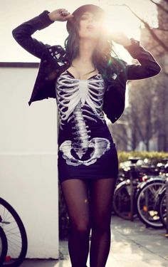 Sexy Skeleton Dress
