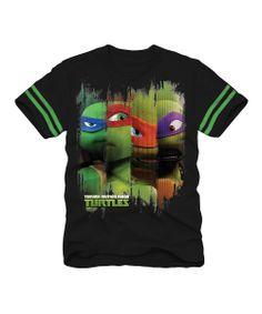 Black & Green TMNT Tee - Boys