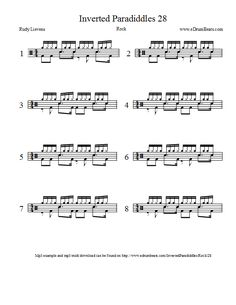 Inverted paradiddles drum lesson 28