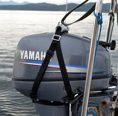 Outboard motor hoist and outboard motor harness for sailing yachts. Outboard Motors, Sailing, Bags, Candle, Handbags, Bag, Totes, Hand Bags