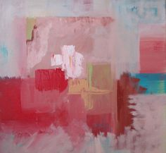 Original  Abstract Painting, pink, blue,red,  Color Block,  Abstract beach art, Contemporary Fine Art Painting