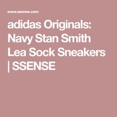 adidas Originals: Navy Stan Smith Lea Sock Sneakers | SSENSE