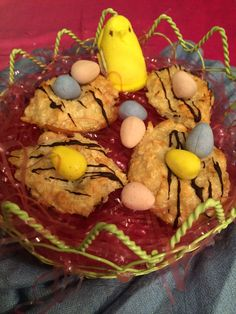 Easter Coconut Macaroons | Suitcases & Sweets