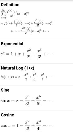 series definitions of common math functions Geometry Formulas, Math Formulas, Statistics Math, Math Quotes, I Love Math, Maths Solutions, Physics And Mathematics, Maths Algebra, Math Humor
