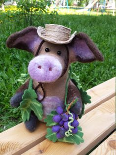 Needle Felted Toy / Pig Parasenko/ Felt Toys