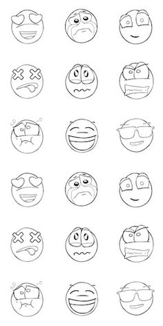 Canvas On Demand Circle Kids Removable Wallpaper Tile for Coloring, x entitled 'All the Feels' Emoji Drawings, Drawing Cartoon Faces, Cartoon Expression, Cartoon Art, Graffiti Lettering, Graffiti Art, Funny Emoji Faces, Graffiti Cartoons, Doodle Art Drawing