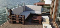 sofa de palets con respaldo - Buscar con Google