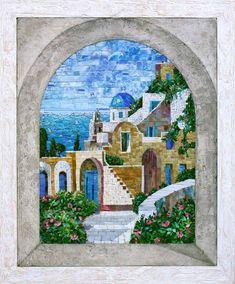 Мозаичное панно Вид на Афонский дворик