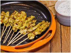 This recipe is perfect for canapés and even better to fill you Banting lunch box with. You can even do large skewers for your every day braai. Yogurt Sauce, Chicken Skewers, Banting, Canapes, Coriander, Freeze, Grilling, Fill, Lunch Box