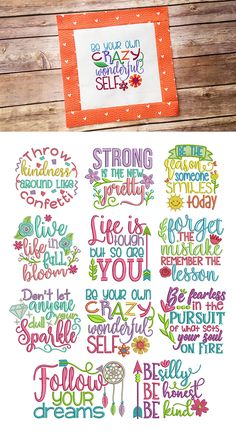 11 MORE gorgeous and inspiring word art designs! Inspired Sayings Set 4 design set available for instant download at designsbyjuju.com