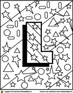 Color the Letter L
