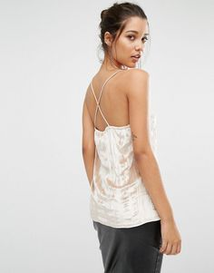Buy it now. Missguided Pleated Cross Back Cami Top - Beige. Top by Missguided, Lightweight pleated fabric, Plunge neckline, Cami straps, Cross back detail, Regular fit - true to size, Hand wash, 90% Polyester, 10% Elastane, Our model wears a UK 8/EU 36/US 4. ABOUT MISSGUIDED With an eye on the catwalks and hottest gals around, Missguided's in-house team design for the dreamers, believers and night lovers. Taking the risks no one else dares to, its bodycon dresses, crop tops and ripped denim…