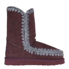 Mou Eskimo Short Boots Women Bordeaux - MOU #mou #eskimo #boots #women #fashion