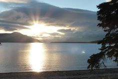 Mount LaGorce Volcano, Alaska File:Sunrise over Naknek Lake and Mount La Gorce, seen from the beach at Brooks Camp Katmai National Park, National Parks, Pretty Pictures, Alaska, Beautiful Places, September 22, Camping, Volcanoes, Vacation