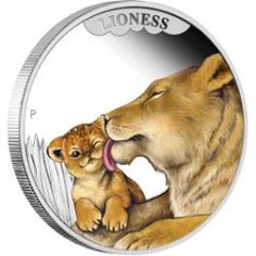 Mothers Love – Lioness 2014 1/2oz Silver Proof Coin