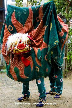 At various festivals around the Japanese Islands, shishimai dances * (獅子舞)*