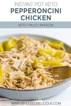 Instant Pot Pepperoncini Chicken is here for those days you when you need a quick and easy dinner that's also delicious. Tangy pepperoncini's help to make your chicken juicy, while some ranch seasoning provides a nice flavor bomb. The perfect compliment that's keto, paleo, whole30, and gluten-free. Homemade Ranch Seasoning, Homemade Seasonings, 30 Minute Dinners, Stuffed Banana Peppers, Chicken Flavors, Whole30 Recipes, Vegan Dinners, Healthy Cooking, Poultry