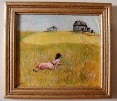 "Josephine Meyer, IGMA artisan - Oil Painting, ""Christina's World"".  After Andrew Weyeth"
