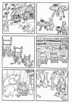 Sequences of 6 images telling classic fairy tales Sequencing Pictures, Story Sequencing, Teaching French, Teaching English, Book Activities, Preschool Activities, Fairy Tales Unit, Goldilocks And The Three Bears, 3 Bears