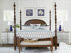 Paula Deen Dogwood Cal King Poster Bed - Low Tide Finish