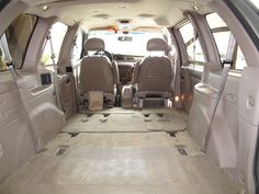 A big space to fill in the back of the Windstar. Oh, the possibilities!