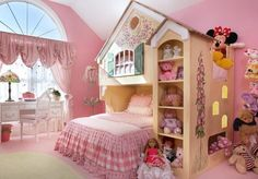 Here are some interesting girls bedroom decor ideas. Get some amazing ideas for your princess room, have a look at some of these lovely girls bedroom decor. Girls Room Design, Girl Bedroom Designs, Bedroom Themes, Bedroom Decor, Bedroom Ideas, Bed Ideas, Bed Design, Nook Ideas, Design Bedroom