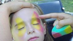 Butterfly Face Painting Design Video Tutorial