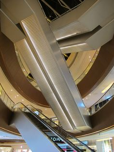 Perforation on underside of escalators