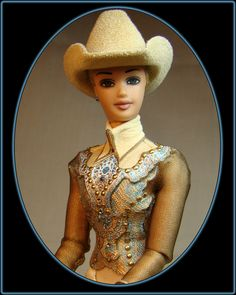 One of a kind Western dolls created by artist Keri Parker for the model horse performance enthusiast.