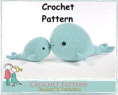 Amigurumi Pattern, Amigurumi Whale Pattern, Crochet Pattern Amigurumi, Crochet Animals, Amigurumi Crochet Pattern, Crochet Toys Pattern, Crochet Whale Pattern ...........................................................................................................................