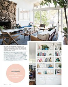 White paint - Super whit by Benjamin moore The home tour/feature in Domino Tree: Nek Budda Home Living Room, Living Room Decor, Living Spaces, Craftsman Interior, Blue Rooms, Modern Country, Eclectic Decor, House Tours, Family Room